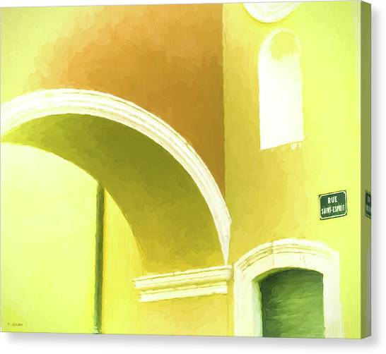 Archway At Antibes Canvas Print by Tony Grider
