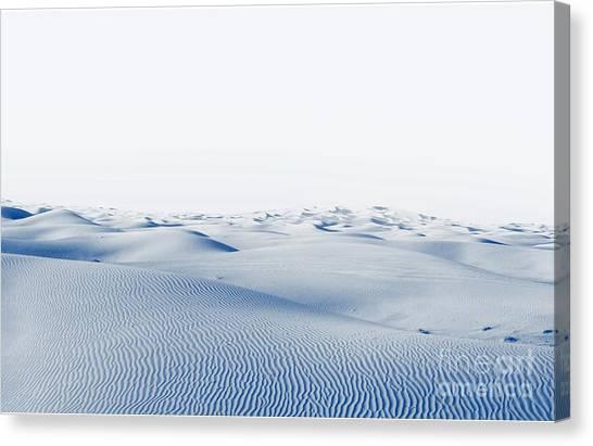 Form Canvas Print - Arctic Desert. Winter Landscape With by Kamenetskiy Konstantin