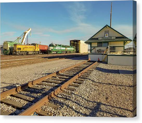 Arizona And California Railroad Headquarters And Engine Yard Canvas Print