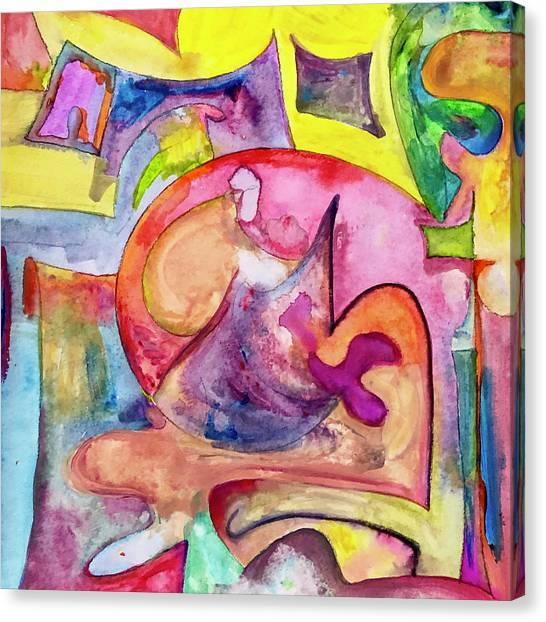 Around Town Canvas Print by Ceil Diskin