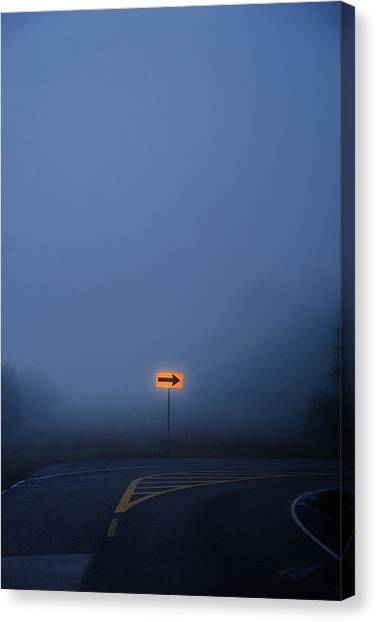 Arrow In Fog Canvas Print
