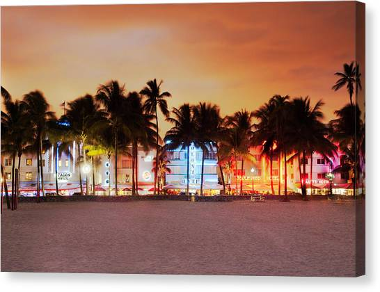 Art Deco District Miami South Beach Canvas Print