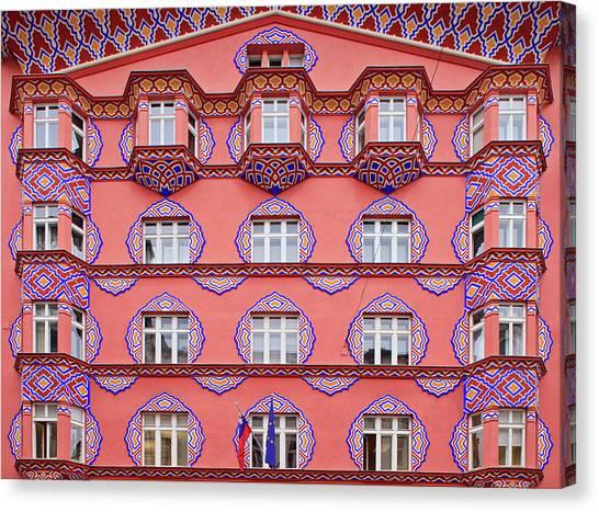Ljubljana Canvas Print - Art Nouveau Facade, Ljubljana, Slovenia by Guy Edwardes