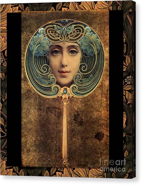 Art Nouveau Handheld Mirror Canvas Print