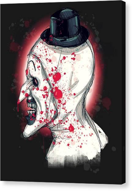 Clown Art Canvas Print - Art The Clown by Ludwig Van Bacon