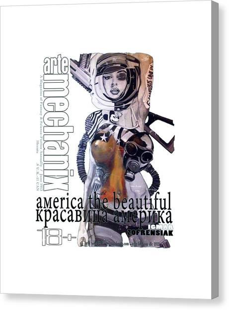 arteMECHANIX 1913 AMERICA THE BEAUTIFUL GRUNGE Canvas Print