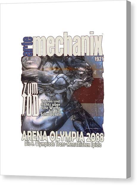 arteMECHANIX 1921 ARENA  GRUNGE Canvas Print