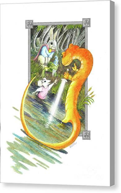 Arthur Mouse Receives Excalibur Canvas Print