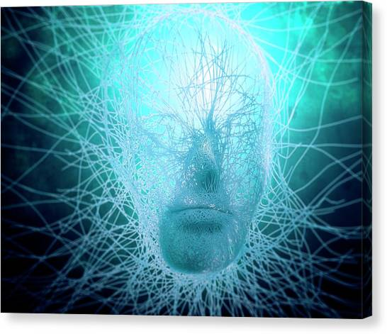 Artificial Intelligence, Conceptual Canvas Print by Andrzej Wojcicki
