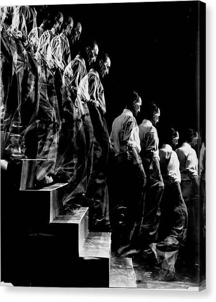 Artist Marcel Duchamp Walking Down A Canvas Print