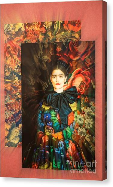 Artistic Frida Kahlo Stream  Canvas Print