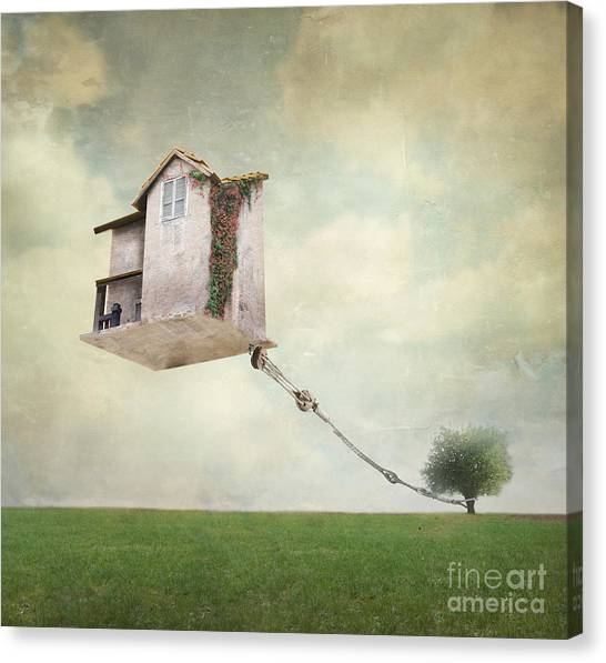 Rope Canvas Print - Artistic Image Representing An House by Valentina Photos