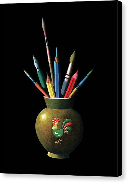 Artists Tools Canvas Print by Graphicaartis