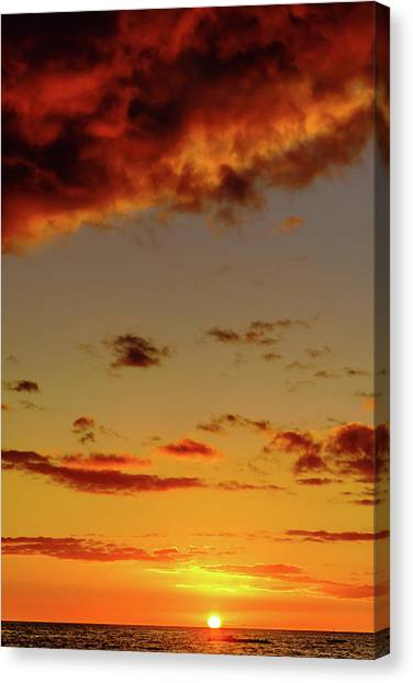 As The Sun Touches Canvas Print