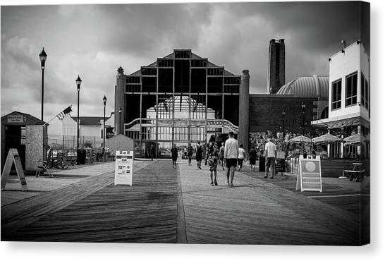 Canvas Print featuring the photograph Asbury Park Boardwalk by Steve Stanger