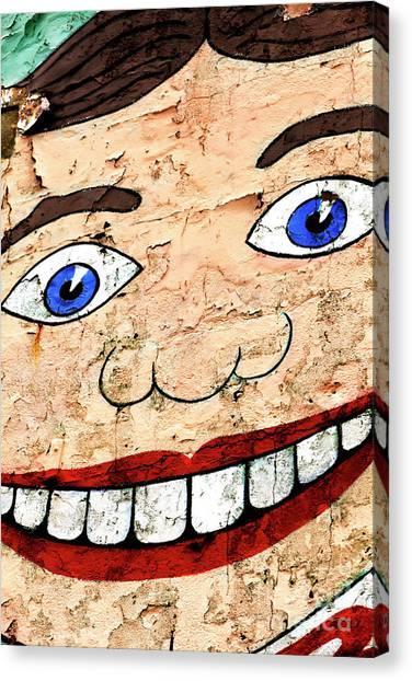 Asbury Park Tillie Smile Mural Canvas Print by John Rizzuto