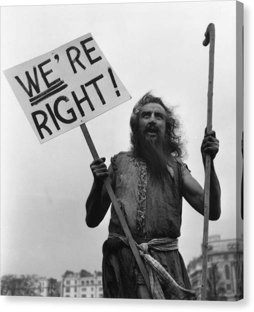 Placard Canvas Print - Ascetic Preaching by John Chillingworth