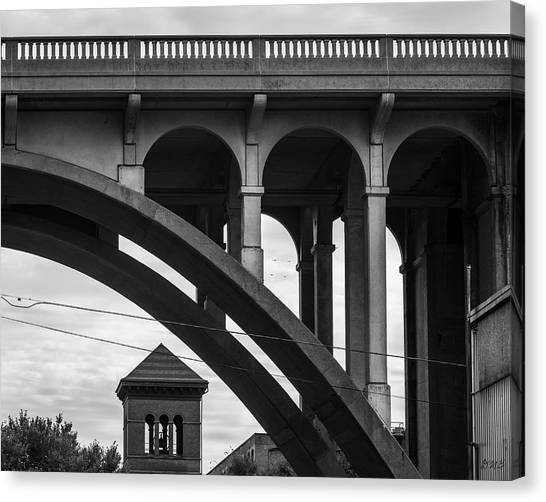 Canvas Print featuring the photograph Ashton Viaduct I Bw by David Gordon
