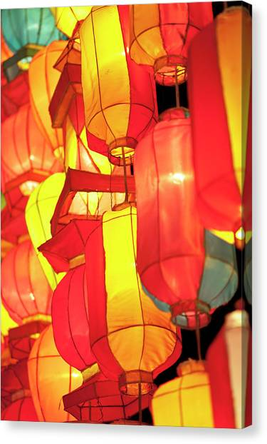 Chinese New Year Canvas Print - Asian Lanterns by Oneclearvision