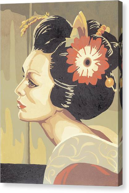 Asian Woman Canvas Print
