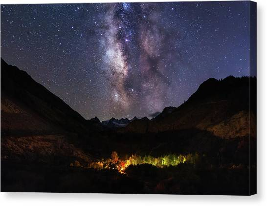 Canvas Print featuring the photograph Aspen Nights by Tassanee Angiolillo