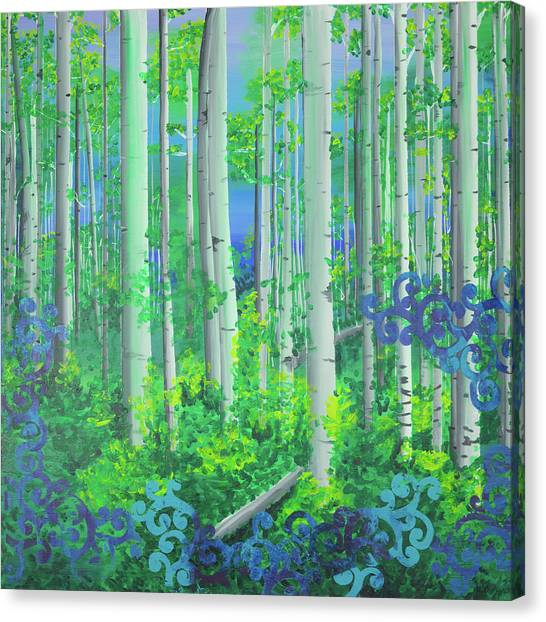 Aspens In July Canvas Print