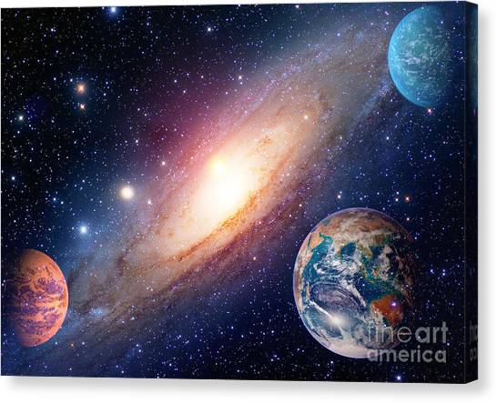 Stunning Canvas Print - Astrology Astronomy Earth Outer Space by Nikonomad