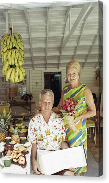 At Home In The Bahamas Canvas Print by Slim Aarons