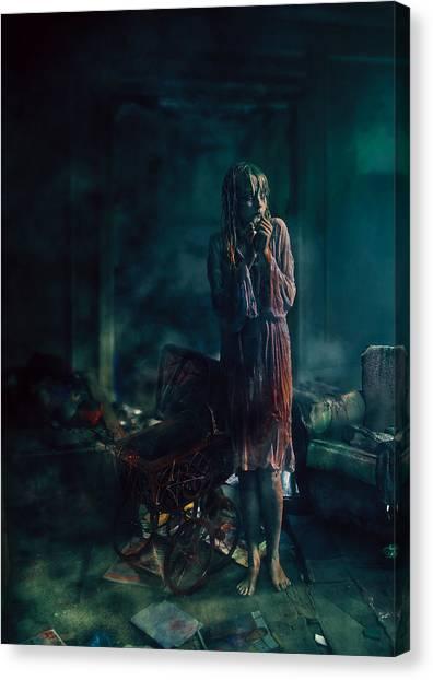 Gothic Art Canvas Print - At Night by Mario Sanchez Nevado