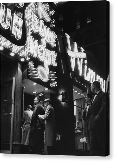 At The Blue Note Cafe Canvas Print by Chicago History Museum