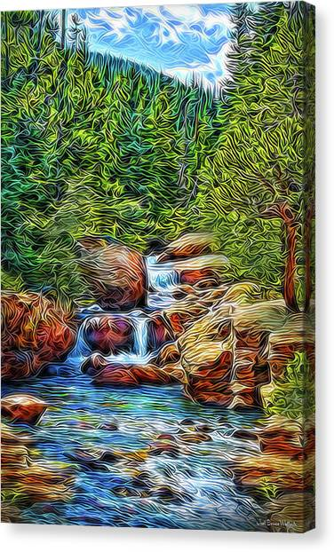 Canvas Print featuring the digital art At The Speed Of Water by Joel Bruce Wallach