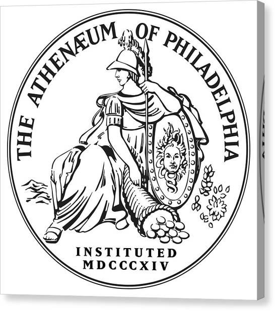 Athenaeum Of Philadelphia Logo Canvas Print