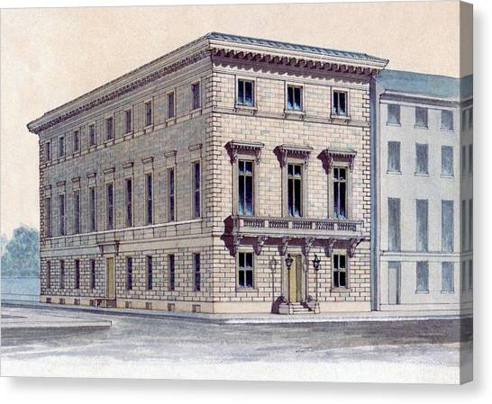 Athenaeum Perspective Canvas Print