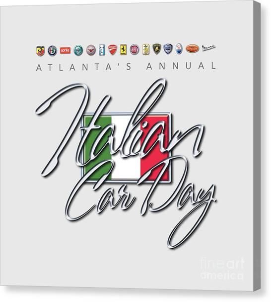 Atlanta's Annual Italian Car Day Logo Canvas Print