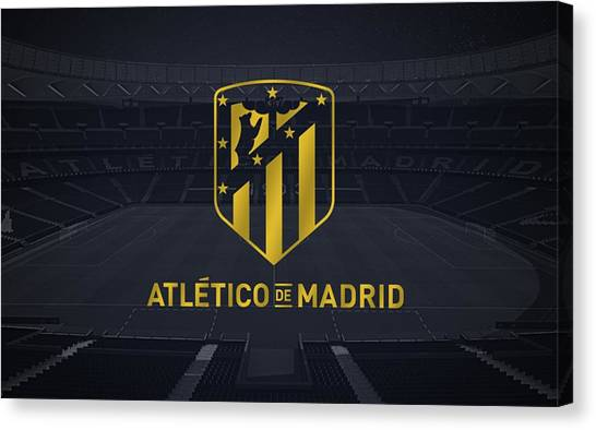Atletico Madrid Canvas Print - Atletico Madrid by Lundi Usop