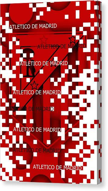 Atletico Madrid Canvas Print - Atm.madrid Pixels by Alberto RuiZ