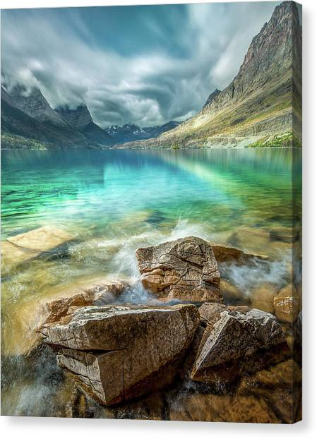 Atmospheric / St. Mary Lake, Glacier National Park  Canvas Print