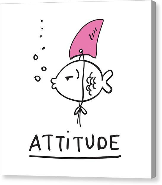 Attitude - Baby Room Nursery Art Poster Print Canvas Print
