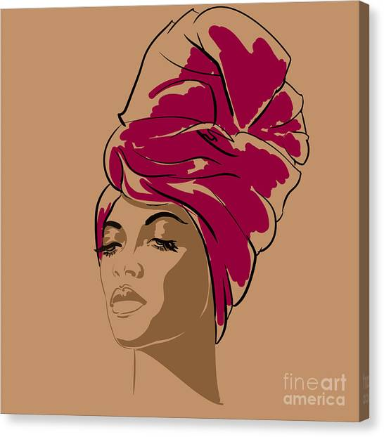 Sensual Canvas Print - Attractive Young African-american by Hahanna