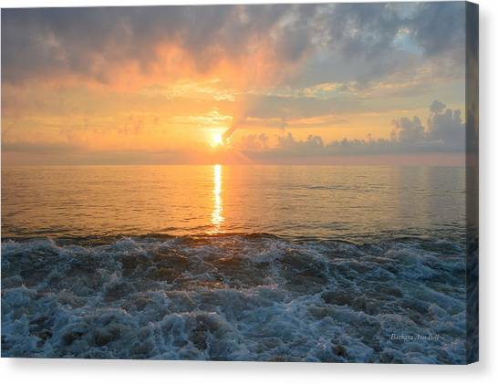 Canvas Print featuring the photograph August Obx Sunrise by Barbara Ann Bell