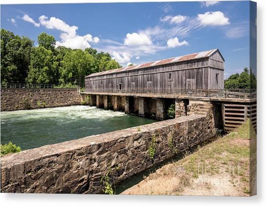 Augusta Canal Headgates - Augusta Ga Canvas Print