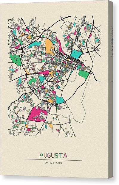 Augusta Canvas Print - Augusta, Georgia City Map by Inspirowl Design