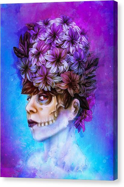 Irises Canvas Print - Aurora by Mario Sanchez Nevado