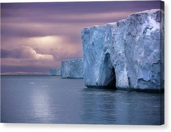 Austfonna Ice Cap Canvas Print by Chase Dekker Wild-life Images