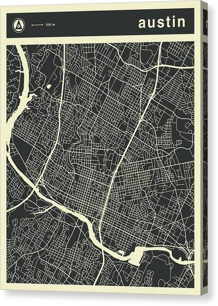 Map Canvas Print - Austin Map 3 by Jazzberry Blue