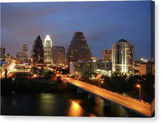 Austin Texas Skyline - Unique Canvas Print