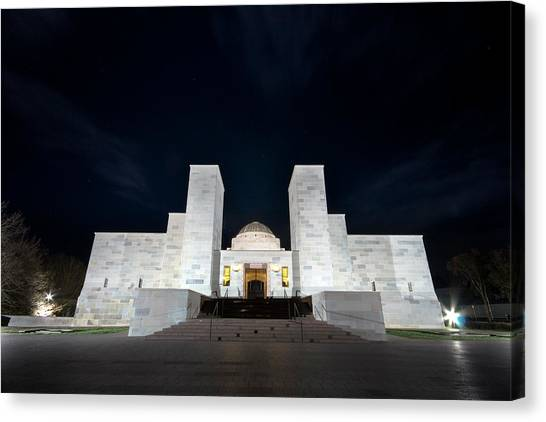 Canberra Canvas Print - Australian War Memorial by Photography By Gene Wahrlich
