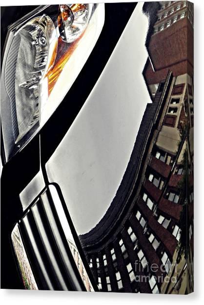 Columbia University Canvas Print - Auto Headlight 130 by Sarah Loft