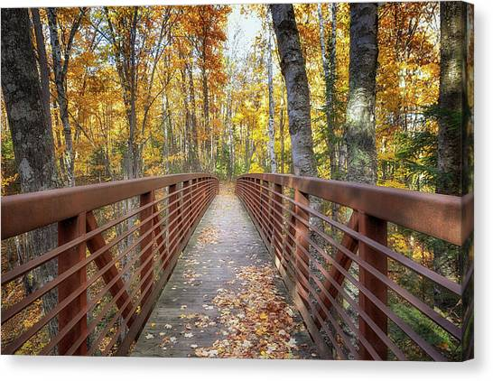 Autumn At Frog Bay  Canvas Print