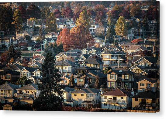 Canvas Print featuring the photograph Autumn At Home by Juan Contreras